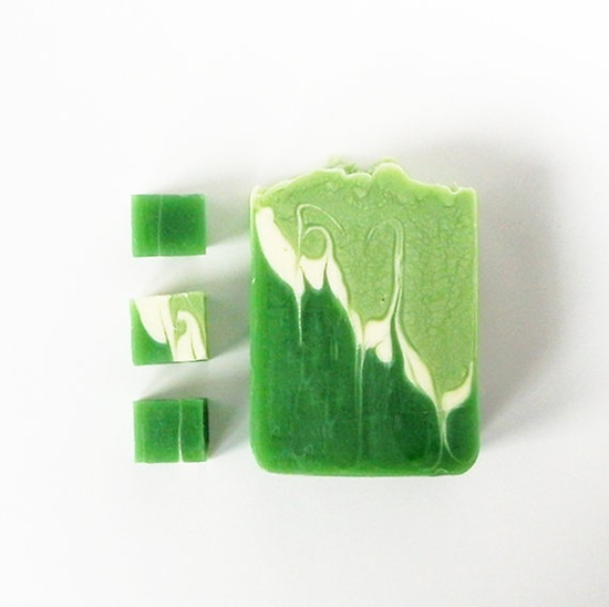 Natural soap   cold process  handmade soaps  green by SoapLab, $6.50