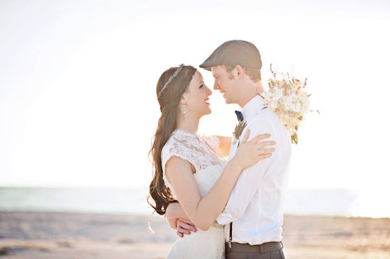 Romantic wedding at the beach. Photo by Best Photography
