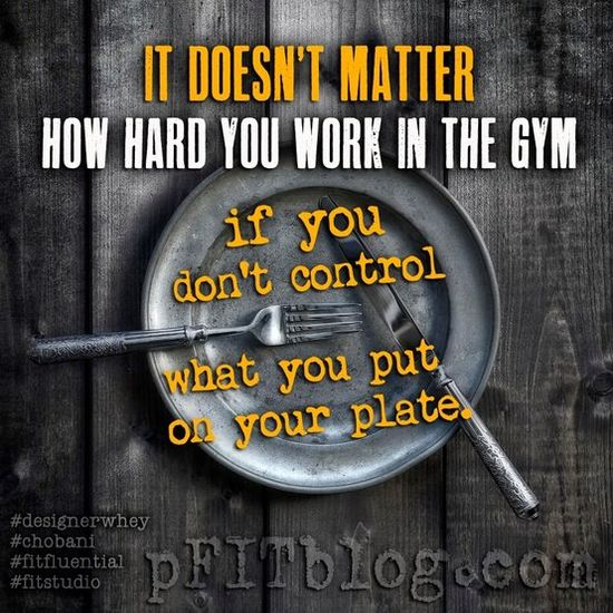 Biggest Loser / #BiggestLoser / Motivation / Inspiration------this is so true for me right now... working out daily but eating too much!!! gotta stop !!!