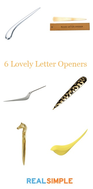 Do you still use a letter opener on your desk? Which of these 6 is your favorite?