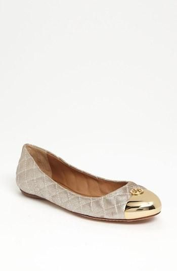 Love gold dipped toes by Tory Burch