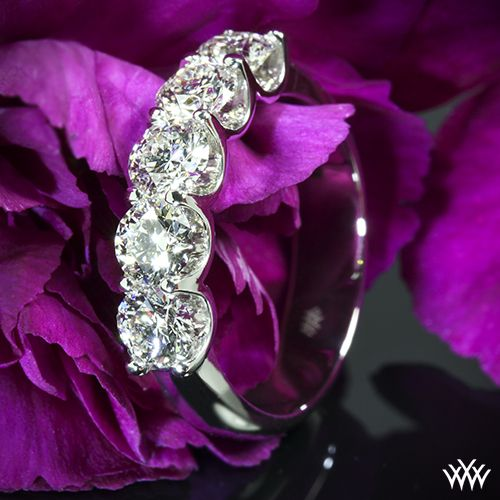 Five 0.38ct A CUT ABOVE Diamonds set in our Skye Diamond Right Hand Ring