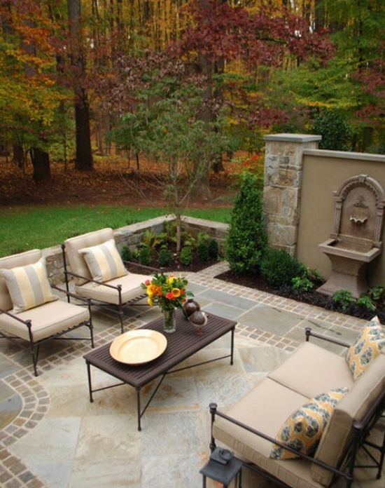 Great for relaxing in the afternoon! 12 DIY Inspiring Patio Design Ideas