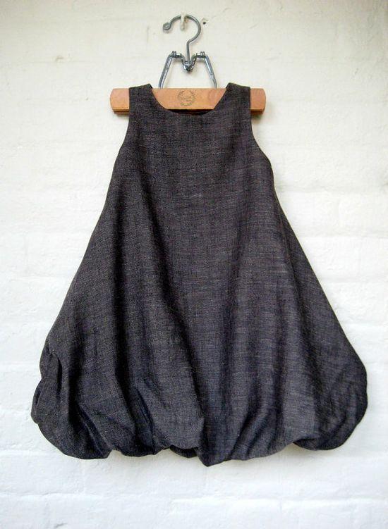 bubble dress.  in grey!