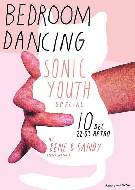 Sonic Youth Bedroom Dancing poster by Fanny Valentin.