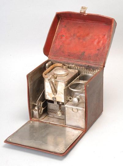 antique picnic tea set
