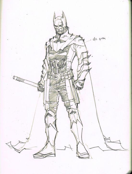 Batman of EARTH 2 sketch, designed by Jim Lee (DC Comics-The New 52)