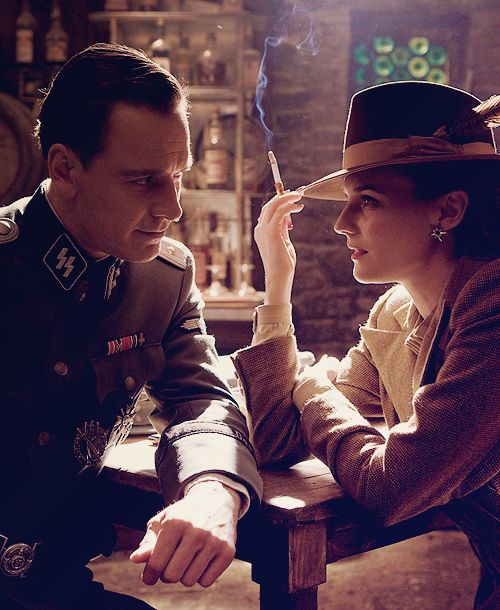 "Michael Fassbender and Diane Kruger in ""Inglorious Basterds."" Absolutely one of my favorite movies. So chilling."