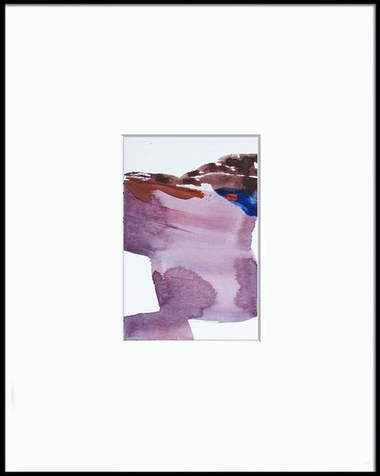 "Violet Abstract Landscape Art, 4 x 6""  ORIGINAL fine art -- ""Painting 437"""