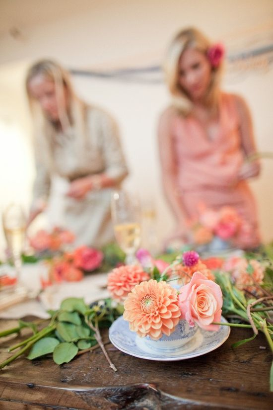 Throw a flower arranging party / great for shower too