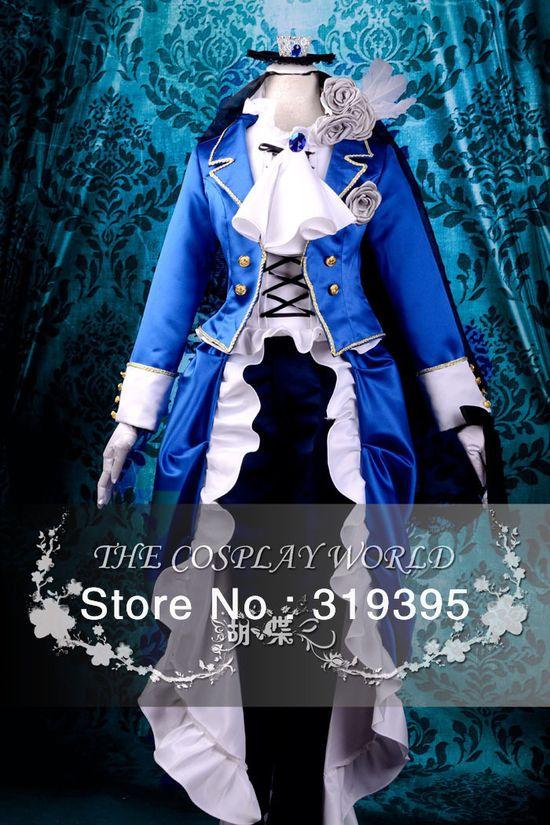 Black Butler Shieru Ciel Cosplay Costume Anime Halloween Performance Clothing CCF0221