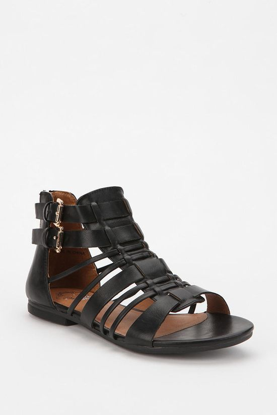 Ecote Strappy Back-Zip Sandal