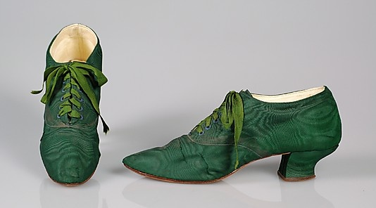 Silk Oxfords, American, 1900–1910.