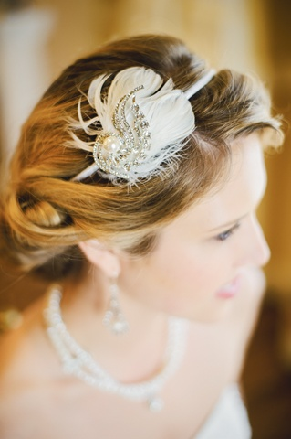 Champagne Wedding Reception Headpiece
