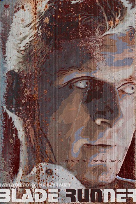Blade Runner - 12x18 - Movie Poster -  by Duke Dastardly