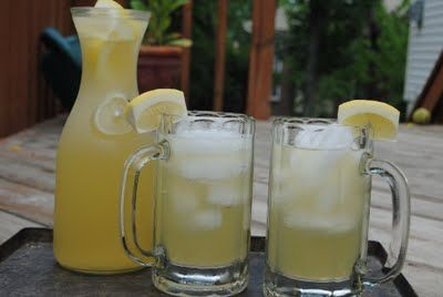 Lemonade Beer with Cherry Rum