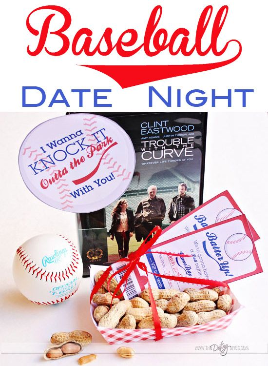 Fun printables and ideas for a baseball movie date night. LOVE it! The after game party ideas are hilarious!  www.TheDatingDiva... #datenight #printable #baseball