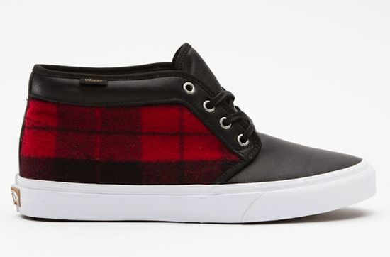 Vans Red + Black Flannel Chukka