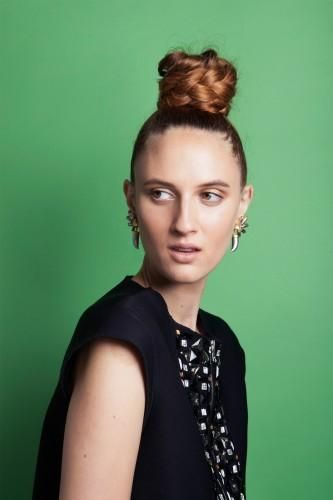 Give a braided bun top-knot a try.