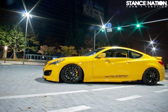 Yellow Hyundai Genesis