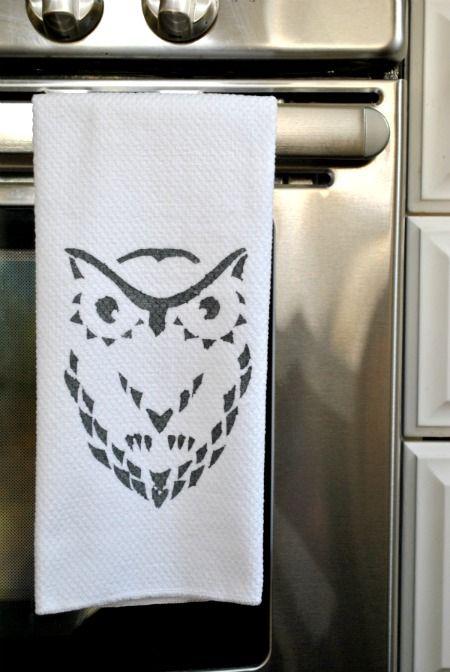 Make a graphic kitchen towel.