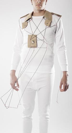 Rodrigo-Acosta-Arias- 2 - Kanelter, 2012.  Collar,Plata,Latón, textil, hilo de algodón.  Fotos: Adolfo López