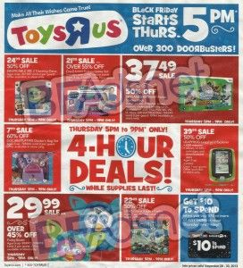 Toys R Us Black Friday 2013 Ad