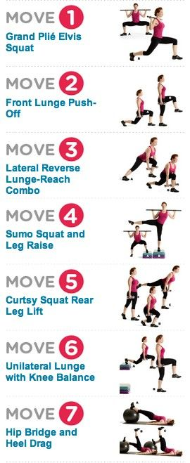 Your ultimate butt workout. Courtesy of @Marsha Penner Penner Penner Penner Crowe's Health Magazine