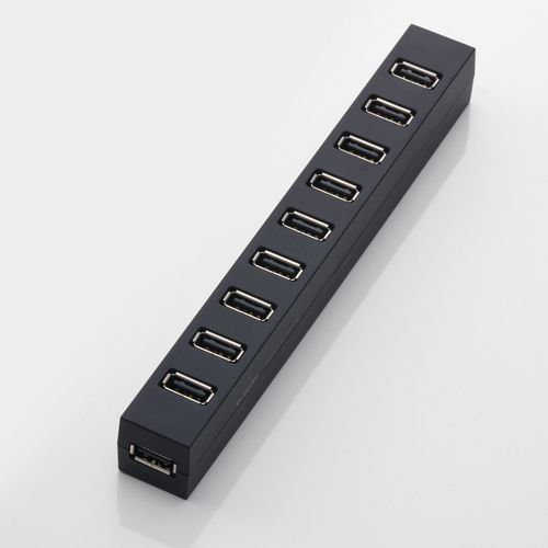 A mangetic USB hub that can be attached to the side of a desk. Brilliant! Elecom U2H-Z10S 10 Port USB Hub $70