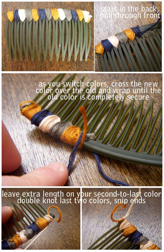 Colored hair comb