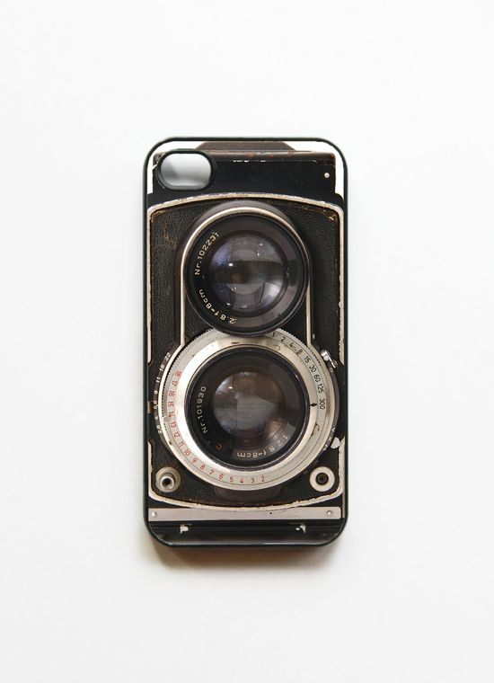 iPhone 4 Case Retro Twin Reflex Camera  - Black. Cases for iphone 4. $16.99, via Etsy.