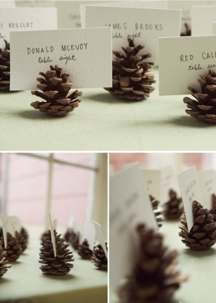 cute place card holders for a fall dinner