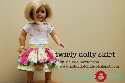 American Girl doll skirt.