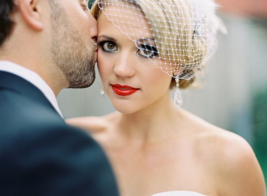 hair netting with trinkets and or flowers. with what ever stile you choose Bridal Make Up ~ Lessons In Colour via Bridal Musings