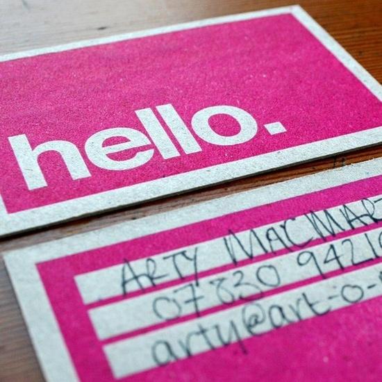 letterpress all-purpose calling cards