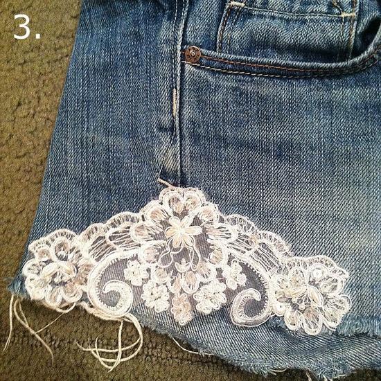 DIY- Lace Shorts
