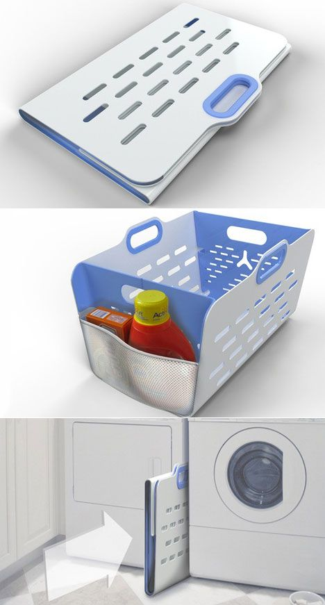 Laundry hamper that folds flat for easy storage
