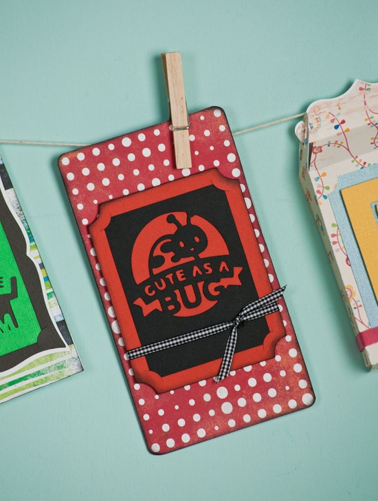 Create this Cute As A Bug card with the Spring Holiday Cards cartridge! #cricut