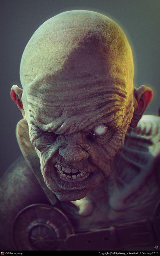 3D Monster Character.