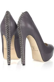 High heels with corset eyelet detail down the heel #heels #shoes
