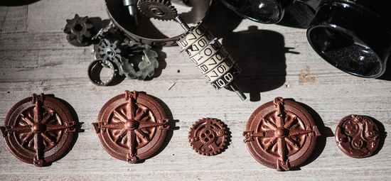 Chocolate compasses