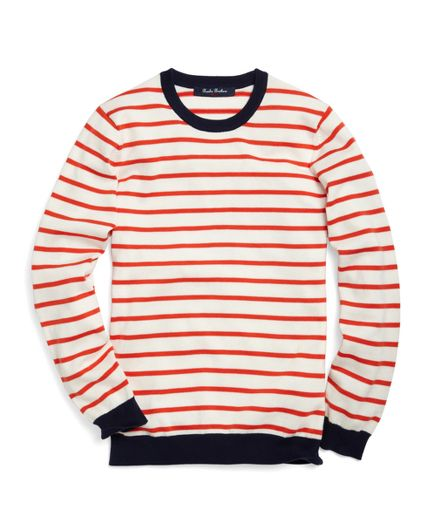 Red stripe sweater