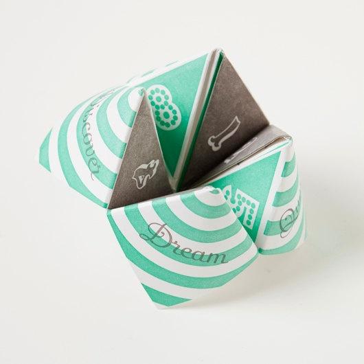 \\\ letterpress fortune teller \\\