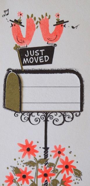 Vintage Hallmark Just Moved Card
