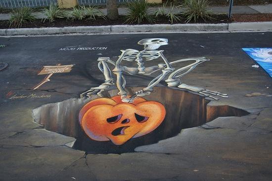3D chalk art!