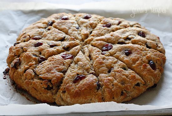 Lemon Cranberry Scones - fresh baked lemon scented scones studded with cranberries, topped with a lemon glaze; a perfect #Easter Sunday breakfast. #lowfat #weightwatchers