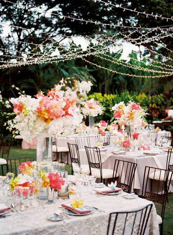 Coral, white & yellow floral paradise Photography By / stevesteinhardt.com, Wedding Design By / bethhelmstetter.com, Floral Design By / hollyflora.com