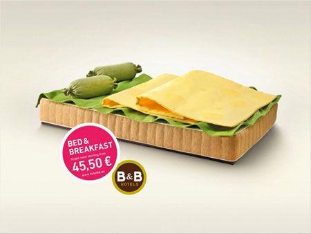Bed Print Ads  Campaña de publicidad creativa