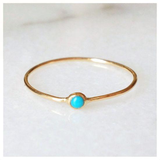 Turquoise Pip Ring - 14k ($200.00) - Svpply