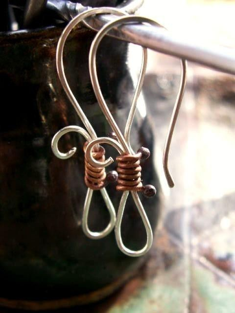 Cute earwire idea. #wire #jewelry #earwires